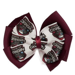 QLD state of origin hair Bow Hair Clip