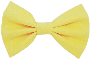 Rockabilly pin up fabric hair bow - lemon shimmer