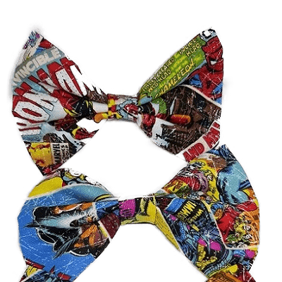 Rockabilly pin up fabric hair bow - marvel comics
