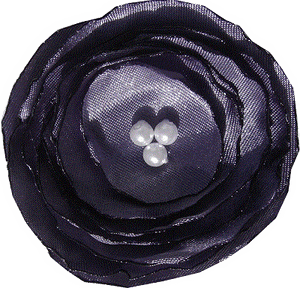 Satin poppy flower - Deep purple