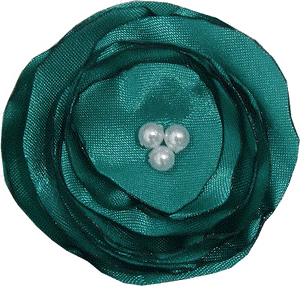 Satin poppy flower - Emerald Green