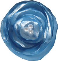 Satin poppy flower - Sky Blue