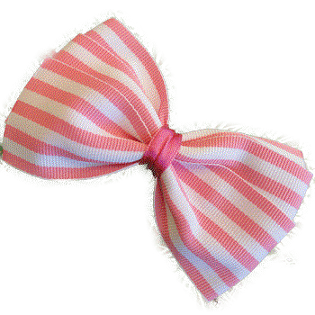 Sweetheart Bow - Stripes (4 Colour Options) - Pinkberry Kisses
