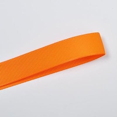 School Double Bella Bow 16.5cm - Orange Base & Centre Ribbon (15 colours top)