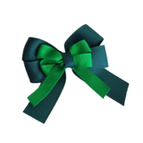 amore bow double layer colour school uniform hair clip school hair accessories hair bow baby girl pinkberry kisses Hunter Green Emerald