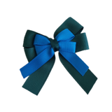 amore bow double layer colour school uniform hair clip school hair accessories hair bow baby girl pinkberry kisses Hunter Green Methyl Blue