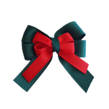 amore bow double layer colour school uniform hair clip school hair accessories hair bow baby girl pinkberry kisses Hunter Green Red