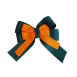 amore bow double layer colour school uniform hair clip school hair accessories hair bow baby girl pinkberry kisses Hunter Green Tangerine