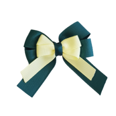 amore bow double layer colour school uniform hair clip school hair accessories hair bow baby girl pinkberry kisses Hunter Green Baby Maize