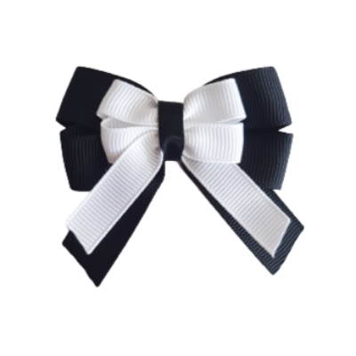 amore bow double layer colour school uniform hair clip school hair accessories hair bow baby girl pinkberry kisses black white