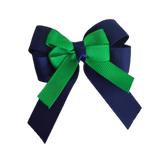 amore bow double layer colour school uniform hair clip school hair accessories hair bow baby girl pinkberry kisses Navy Blue Emerald