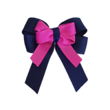 amore bow double layer colour school uniform hair clip school hair accessories hair bow baby girl pinkberry kisses Navy Blue Garden Rose