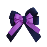 amore bow double layer colour school uniform hair clip school hair accessories hair bow baby girl pinkberry kisses Navy Blue Grape