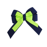 amore bow double layer colour school uniform hair clip school hair accessories hair bow baby girl pinkberry kisses Navy Blue Key Lime