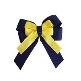 amore bow double layer colour school uniform hair clip school hair accessories hair bow baby girl pinkberry kisses Navy Blue Lemon