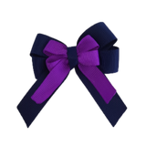 amore bow double layer colour school uniform hair clip school hair accessories hair bow baby girl pinkberry kisses Navy Blue Purple