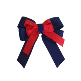 amore bow double layer colour school uniform hair clip school hair accessories hair bow baby girl pinkberry kisses Navy Blue Red