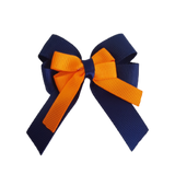 amore bow double layer colour school uniform hair clip school hair accessories hair bow baby girl pinkberry kisses Navy Blue Tangerine