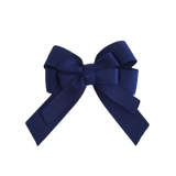 amore bow double layer colour school uniform hair clip school hair accessories hair bow baby girl pinkberry kisses Navy Blue