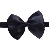 babies and toddler soft Bow headband - Bella Hair bow satin Black Pinkberry Kisses