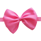 babies and toddler soft Bow headband - Bella Hair bow satin Hot Pink Pinkberry Kisses
