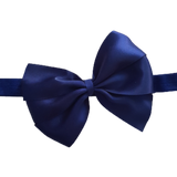 babies and toddler soft Bow headband - Bella Hair bow satin Navy Blue Pinkberry Kisses