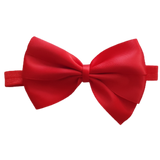 babies and toddler soft Bow headband - Bella Hair bow satin Red Pinkberry Kisses
