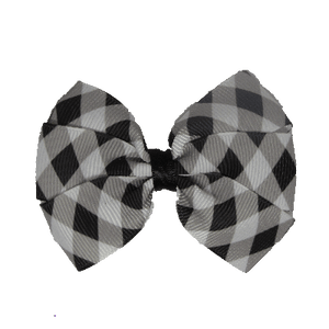 Hair accessories for girls Hair Accessories for Babies, Hair Bow for Babies, Hair bow for Toddler Bella Hair Bow - Black and White Checks - 7cm