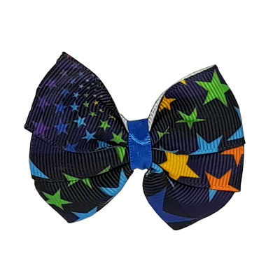 Bright Starry Sky Bella Hair Bow Hair accessories for girls Hair accessories for baby - Pinkberry Kisses
