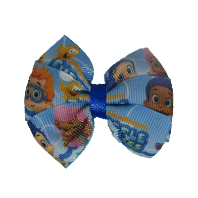 Bella Hair Bow - Bubble Guppies Hair accessories for girls Hair accessories for baby - Pinkberry Kisses