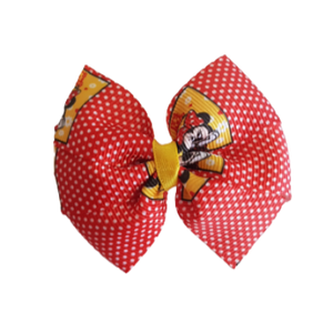 Bella Hair Bow - Minnie Mouse Spotty Non Slip Clip Hair Accessories Pinkberry Kisses