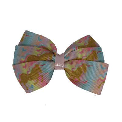 Bella Hair Bow - Unicorns - 7cm Hair accessories for girls Hair accessories for baby - Pinkberry Kisses