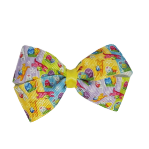 Cherish Hair Bow - Easter Egg Treasure Hunt - Pinkberry Kisses Hair Accessories
