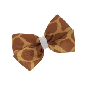 Cherish Hair Bow - Giraffe Print - Hair Accessories for Girl Baby Children Pinkberry Kisses