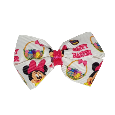 Cherish Hair Bow - Happy Easter Minnie Mouse - Hair Accessories for Girl Baby Children Pinkberry Kisses