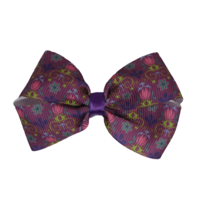 Cherish Hair Bow - Purple and Pink - Hair Accessories for Girl Baby Children Pinkberry Kisses Non Slip Hair Clip