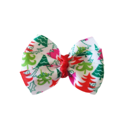 Christmas Hair Accessories - Bella Bow Christmas TreesHair accessories for girls Hair accessories for baby - Pinkberry Kisses