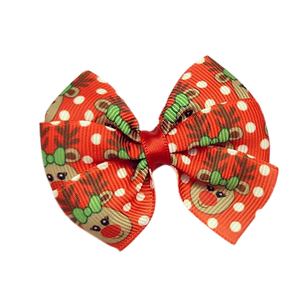 Hair accessories for girls Hair accessories for baby - Pinkberry Kisses Christmas hair accessories - Bella Hair Bow Red Reindeer