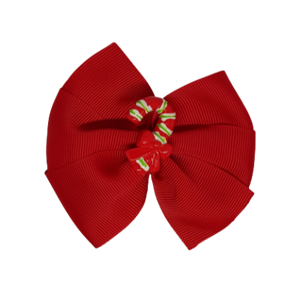 Hair accessories for girls Hair accessories for baby - Pinkberry Kisses Christmas hair accessories - Red Bella Hair Bow Candy Cane