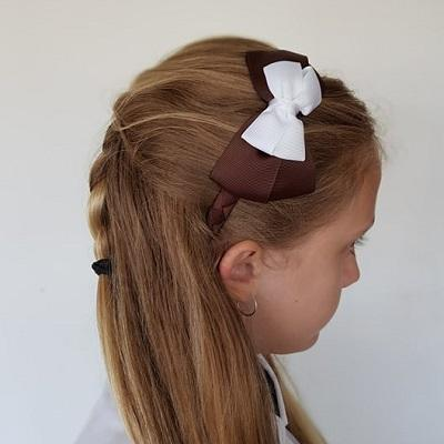 School Woven Double Cherish Bow Headband