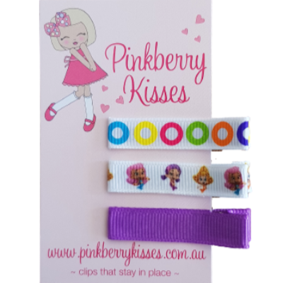 Everyday non slip hair clips - Bubble Guppies - Ballet Love Baby Hair Accessories Toddler Hair Accessories Girl Hair Accessories Pinkberry Kisses