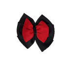 School Uniform Double Bella Bow 10cm - Black Base & Centre Ribbon (24 colours top)