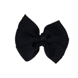 Bella Plain Colour School Uniform Hair Bow Hair Accessories 6cm PinkBerry Kisses - Black