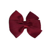 Bella Plain Colour School Uniform Hair Bow Hair Accessories 6cm PinkBerry Kisses - Burgundy