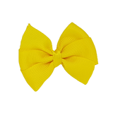 Bella Plain Colour School Uniform Hair Bow Hair Accessories 6cm PinkBerry Kisses - Daffodil Yellow