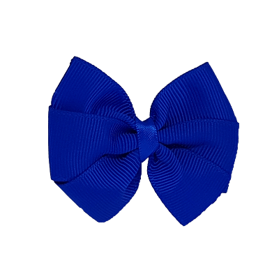 Bella Plain Colour School Uniform Hair Bow Hair Accessories 6cm PinkBerry Kisses - Electric Blue