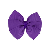 Bella Plain Colour School Uniform Hair Bow Hair Accessories 6cm PinkBerry Kisses - Grape