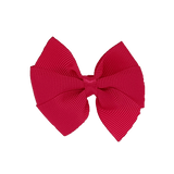 Bella Plain Colour School Uniform Hair Bow Hair Accessories 6cm PinkBerry Kisses - Hot Pink