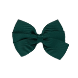 Bella Plain Colour School Uniform Hair Bow Hair Accessories 6cm PinkBerry Kisses - Hunter Green