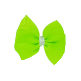 Bella Plain Colour School Uniform Hair Bow Hair Accessories 6cm PinkBerry Kisses - Key Lime